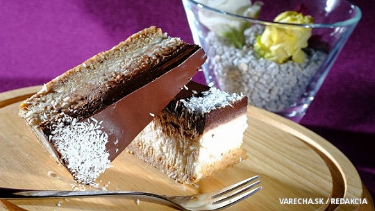 Kokosovo-orechová raw torta s čokoládou