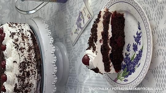 Bezlepková schwarzwaldská torta