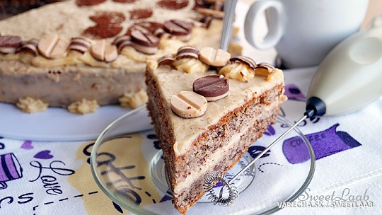 Café latte: torta, káva, nanuk