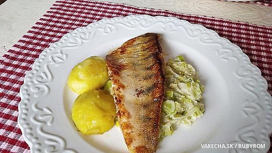 Candát, smetanový pórek a brambory