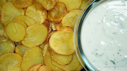 Chipsy s jogurtovým dipom (videorecept)