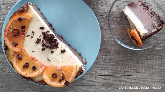 Čokoládovo-pomarančový cheesecake