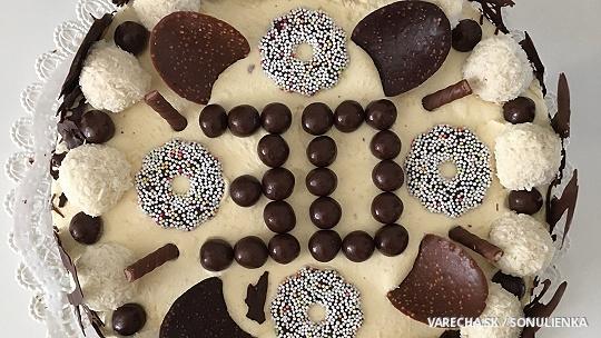 Jednoduchá torta s vanilkovou plnkou