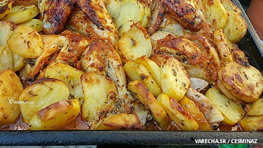 Horčicové kura na rascových zemiakoch