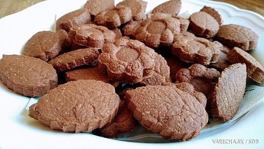 Kváskové kakaové sušienky