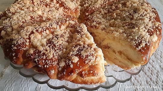 """Kysnutý koláč """"Jablkové kornútiky"""""""