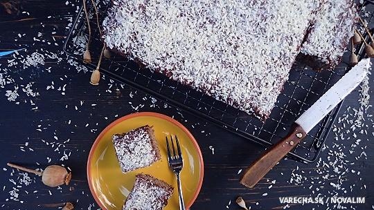 Makový jablkový koláč bez lepku