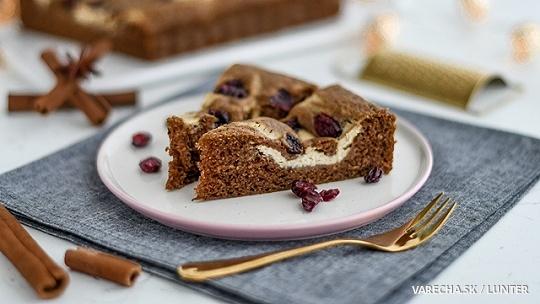 Mramorový perníkový koláč