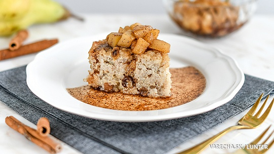 Nákyp z tofu s karamelizovanými hruškami