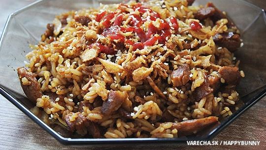 Opekaná ryža (vegan)
