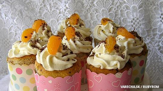 Ořechové cupcakes s čokoládou