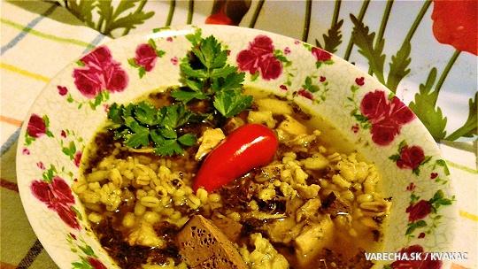 Ovarová polievka s krúpami