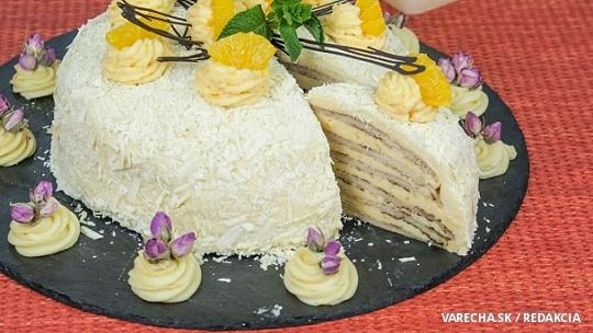 Palacinková torta s citrónovo-pomarančovým krémom