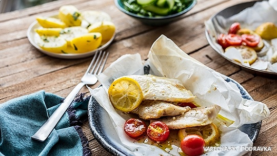 Pečená ryba v papieri