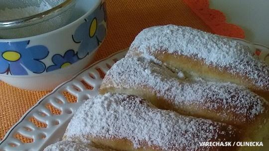 Pečené buchty plnené vanilkovým krémom