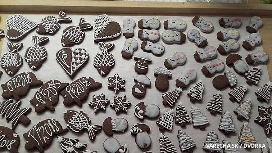 Perníky z čokoládového cesta