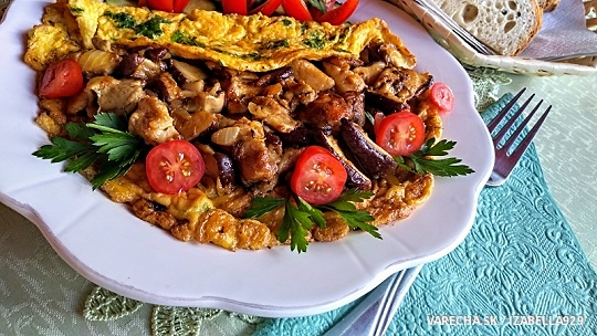 Pražené dubáky na vajcovo-petržlenovej omeletke