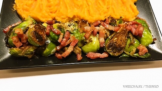 Ružičkový kel s gorgonzolou a so slaninou