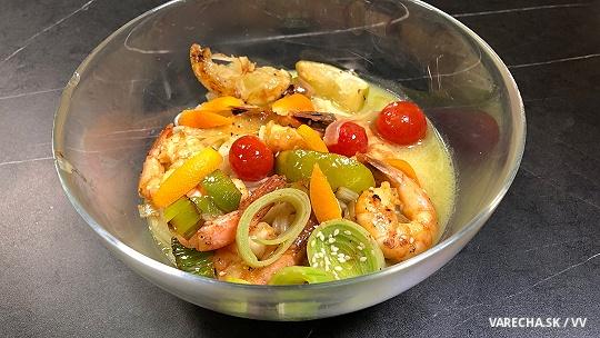 Ryžové rezance s krevetami podľa Evy Černej...