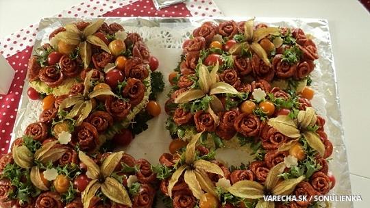 Slaná torta k 25 narodeninám pre vnuka