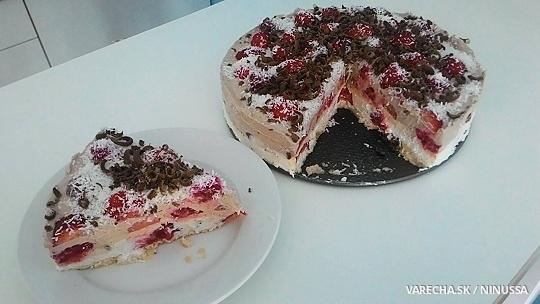 Smotanovo-ovocná torta s kokosom a čokoládou