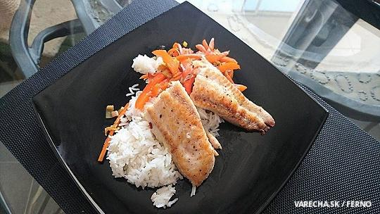 Sumček africký so zeleninou na ázijský spôsob