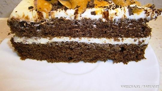 Torta s krémom z bielej čokolády, tvarohu a...