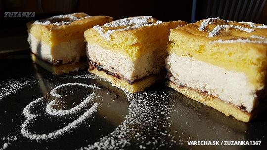 Tvarohový koláč v chlade kysnutý