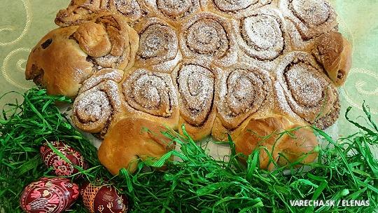 Veľkonočný baranček so škoricou a s orechmi