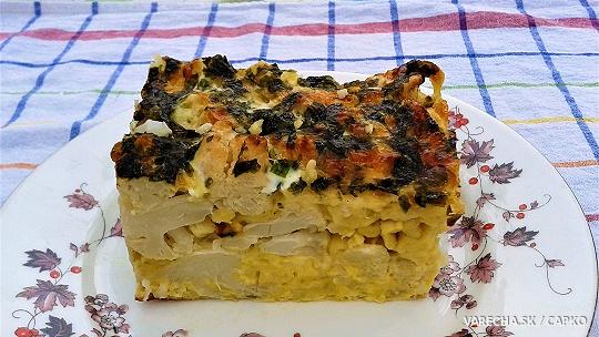 Zapekaný karfiol so syrom a švábskymi špeclami