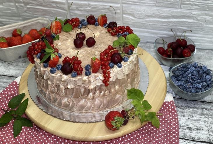 Torta s krémom z mascarpone a tvarohu...