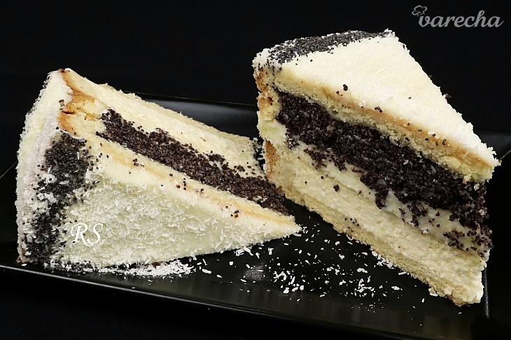 Tvarohovo-maková torta s jemným krémom