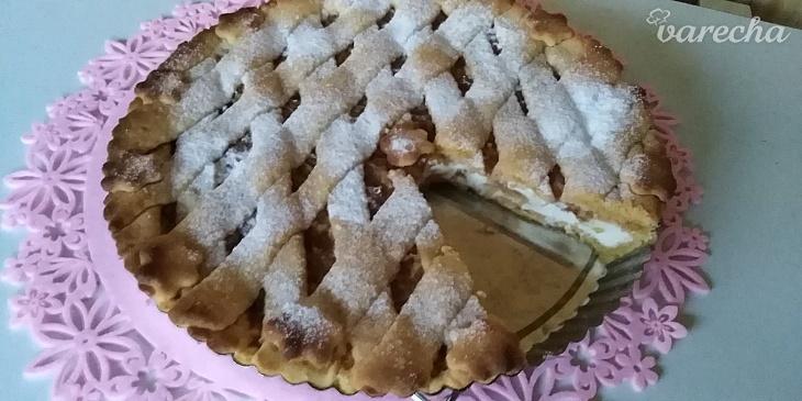 Tvarohovo-jablkový linecký koláč