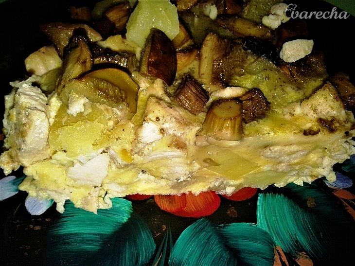 Sedliacka omeleta s hubami