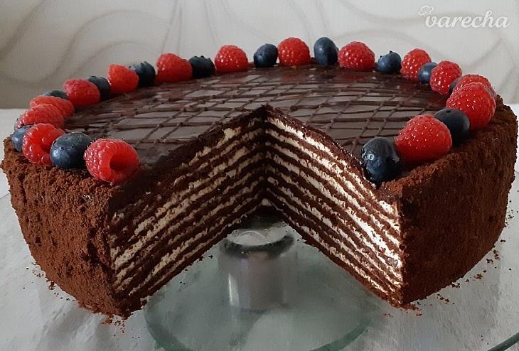 Úžasná čokoládová medová torta so...