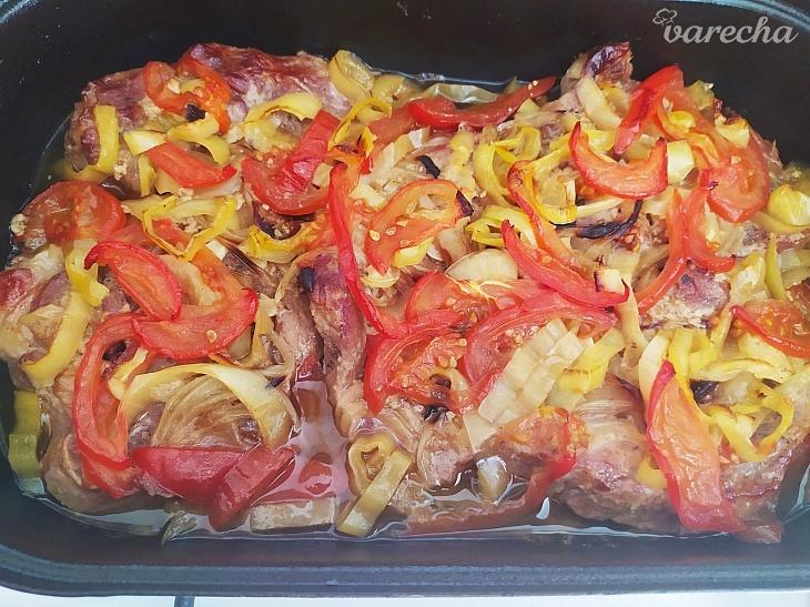 Horčičová krkovička pečená so zeleninou