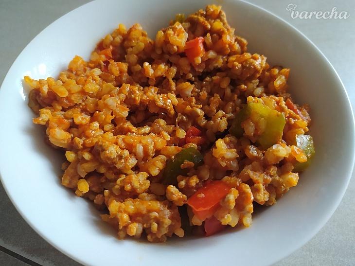 Španielska ryža s mletým mäsom