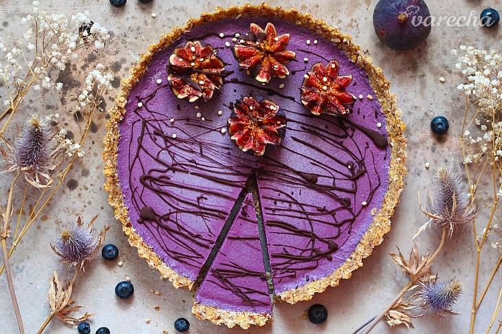Nepečený čučoriedkový koláč