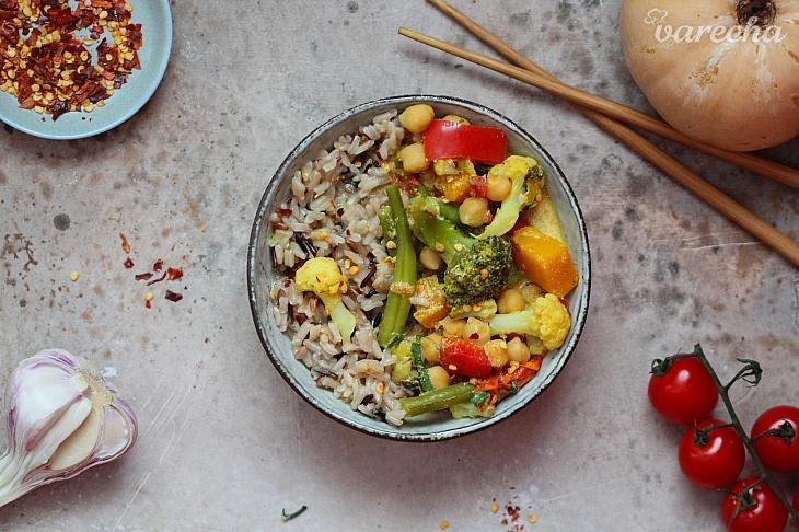 Krémové zeleninové karí s ryžou